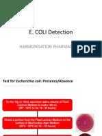 E.coli Detection Dari Harmonisasi