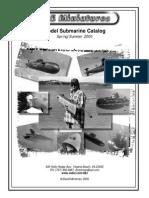 D&E MINIATURES 2000 Model Submarine Catalog