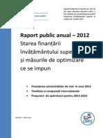 Raport CNFIS 2012 - Starea Finantarii Invatamantului Superior