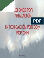 Lesiones Por Inahalacion Intoxicacion CO y CNH