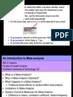 Introduction to Meta-Analysis