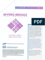 Myers Briggs Form M Questions