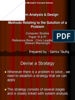Methods Relating to the Solution of a Problem