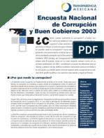Encuesta Nacional de Corrupcion y Buen Gobierno 2003
