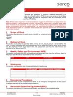 Method Statement Template n Guidelines