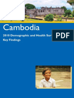 Cambodia Demographic and Health Survey 2010 Key Findings