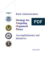 Alberto Gonzales Files -Bush Administration Strategy for Targeting Organized Piracy Report - March 2007