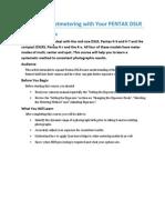 Pentax K- Spotmetering