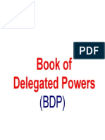 Book Of Delegated Powers