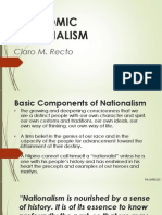Economic Nationalism- Claro m. Recto