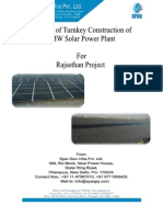 1MW Solar Project Proposal Costing