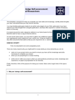 PhD Skills Audit Template