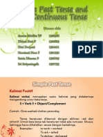 Simple Past Tense and Past Continuous Tense