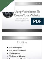 Wordpress Instruction