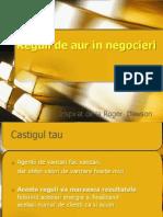 Reguli de Aur in Negocieri-