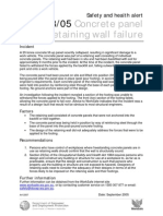Safety Alerts 2005-18-05 Concrete Panel Retaining Wall Failure