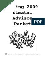 Advisor Packet Spring 2009 PDF