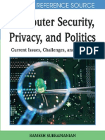 Ramesh Subramanian Computer Securiy Privacy Politics