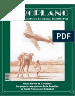 Aeroplano 25 - Primer dirigible Español 1907, Nacimiento aviacion española de combate