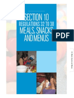 Section 10 Meals, Snacks and Menus