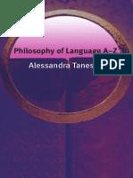 TANESINI - Philosophy of Language a-Z