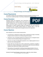 Marketing Strategy and Management [MKTG 5003] - Course Outline - Asif Shahzad