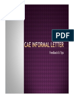 Cae Informal Letter Corrections & Suggestios
