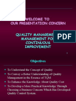 quality management management for continuous improvement