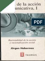 Habermas Jurgen Teoria de La Accion Comunicativa I
