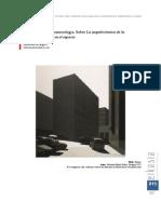 Arquitectura y fenomenología sobre la arquitectónica de la indeterminacíon en el espacio