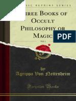 Three Books of Occult Philosophy or Magic v1 1000002993