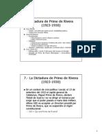 Dictadura de Primo de Rivera 1923-1930