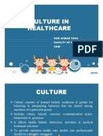 Culture in healthcacre