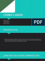 Quimica. Crema Casera
