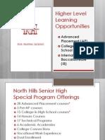 Higher Level Learning Opportunities