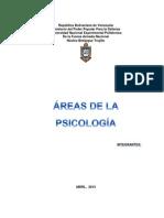 ÁREAS DE LA PSICOLOGÍA COMO ESTUDIO