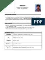 Resume Jayamohan WithPic (1)