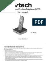 Chordless Phone_ Answering Machine VT1030 Manual