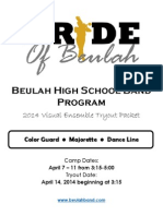 2014 tryout packet