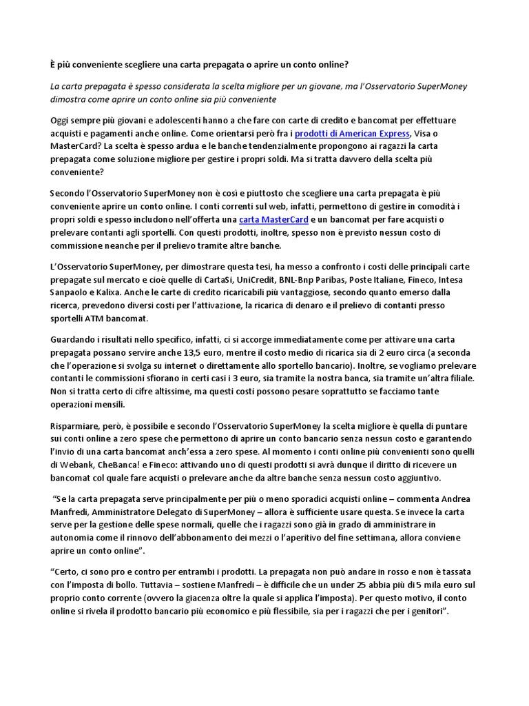 Conto Senza Imposta Di Bollo. Imposta Di Bollo Per I Libretti Di ...