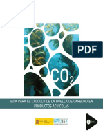 Guía para el cálculo de la huella de carbono en productos acuícolas