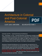 Architecture in Colonial and Post Colonial America