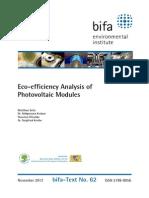 Bifa PV Eco-EfficBifa PV Eco-efficiency 2013