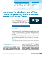 The System for Simulation and Off-line, Remote Programming of the Mitsubishi Movemaster RV-M1 Robot