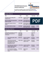 LGBT, Sexuality, and HIV/AIDS and Aging Sessions at Aging in American 2014