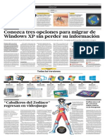 Conozca tres opciones para migrar de Windows XP  sin perder su información
