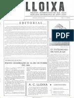 LLOIXA. Número 04, octubre 1981. Butlletí informatiu de Sant Joan. Boletín informativo de Sant Joan. Autor
