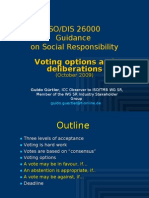 ISO 26000 (9) DIS Voting Options and Deliberations, Oct 2009