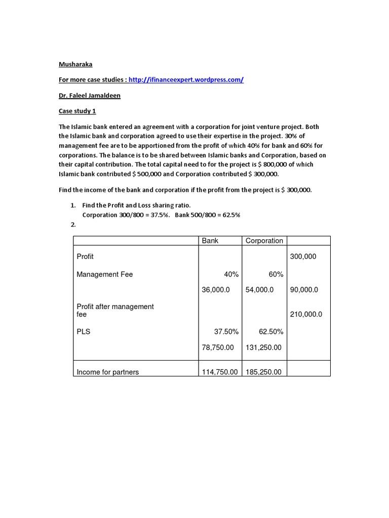 case study 1 ijarah contract