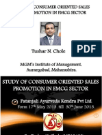 study consumer preferences with respect to sales promotion in FMCG sector.